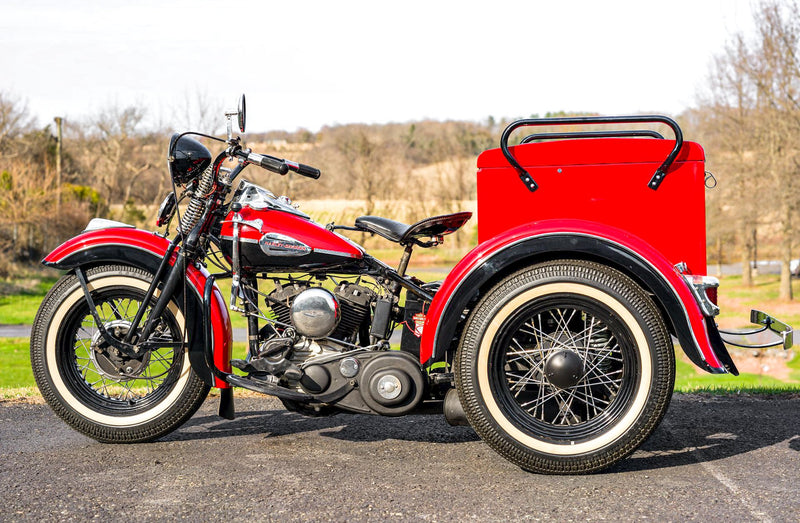 "1940 Harley Davidson Servicar Servi-Car Red & Black 2-Tone 45"" Fully Restored! - $29,995"
