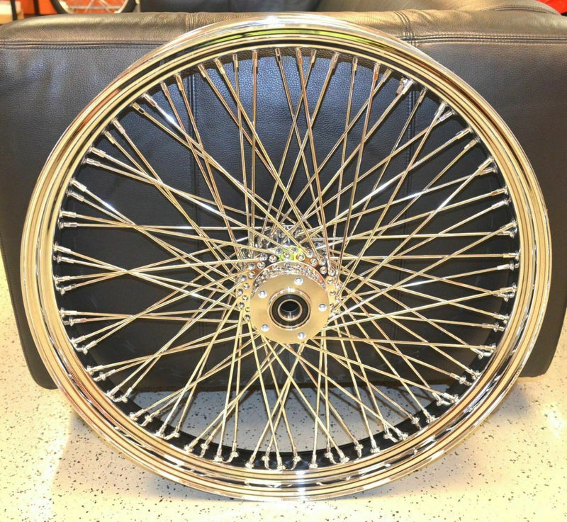 Chrome 26 3.5 80 Spoke Front Wheel Rim 2008-2020 Harley Touring Dual Disc Bagger