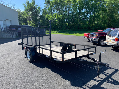 2017 Car Mate 2900 CVWR Motorcycle Landscape Utility ATV UTV Side by Side Trailer Single Axle