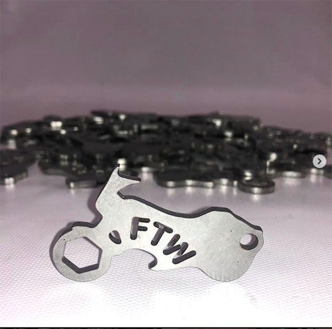 FTW Key Chain Saddle Nut Bottle Opener Wrench