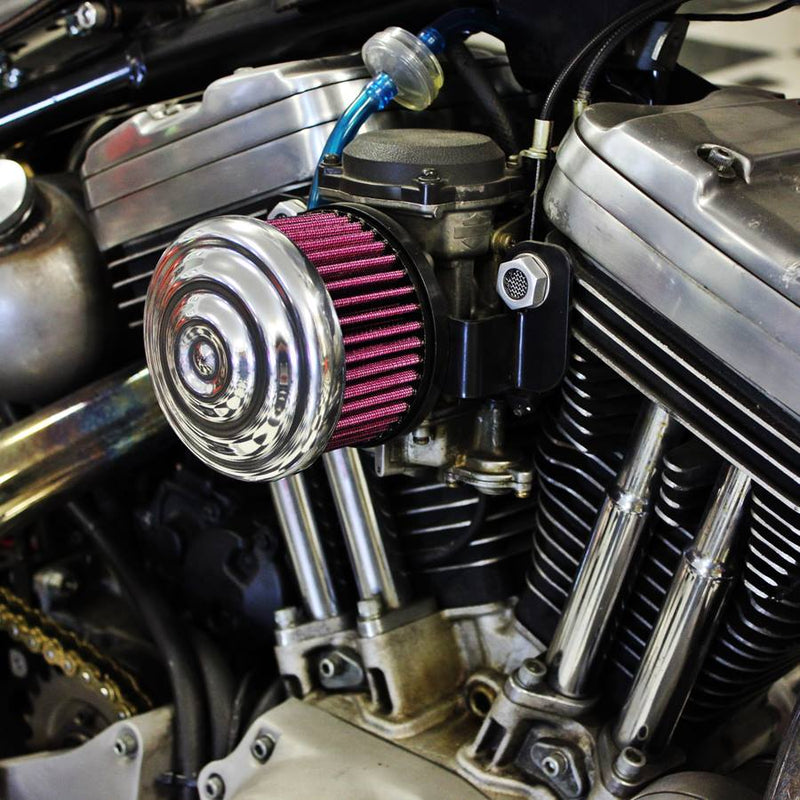 TC Bros. Ripple Polished Air Cleaner HD CV Carbs & EFI