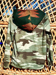 Camo and green Aztec hoodie