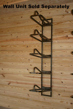 Our saddle rack arm on a 5 tier wall mount.