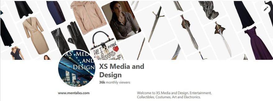 XS Media and Design Pinterest: 36k per month, and counting!