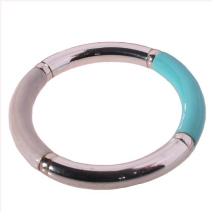 CAVAS Women's Silver Bracelet with 2-color Enamel Inserts - Italian Couture Jewelry :: Mental XS Online