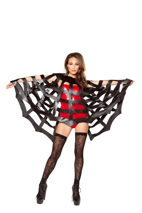 Confidential Society Black Webbed Cape - Roma Costume, Inc. :: Mental XS Online