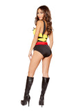 Female Unbreakable Hero Yellow & Black 2pc Bodysuit - Roma Costume, Inc. :: Mental XS Online