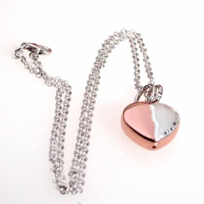 CAVAS Women's Rose Gold & Diamond-Plated 925 Silver Heart Pendant Necklace - Italian Couture Jewelry :: Mental XS Online
