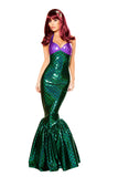 Mermaid Green & Purple Fishtail Dress - Roma Costume, Inc. :: Mental XS Online