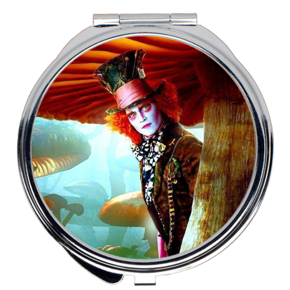 Alice In Wonderland Mad Hatter Compact Mirror (Round) :: Mental XS Online