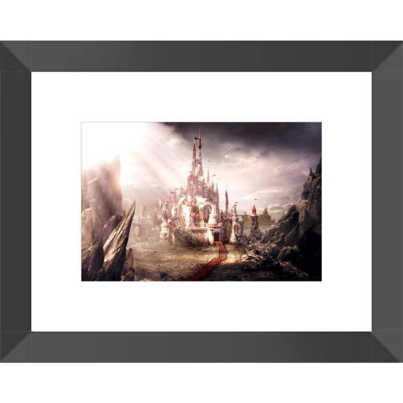 Alice in Wonderland Castle Framed Fine Art Print [10x15 cm, Black Frame] :: Mental XS Online