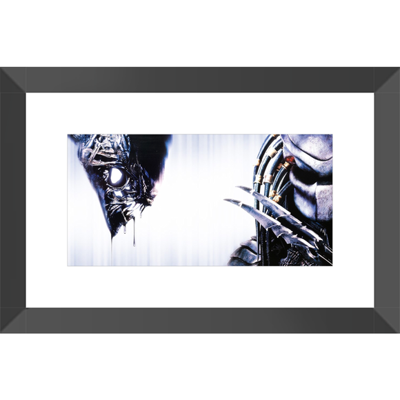 AVP Alien vs Predator Framed Fine Art Print #1 [10x20 cm, Black Frame] :: Mental XS Online