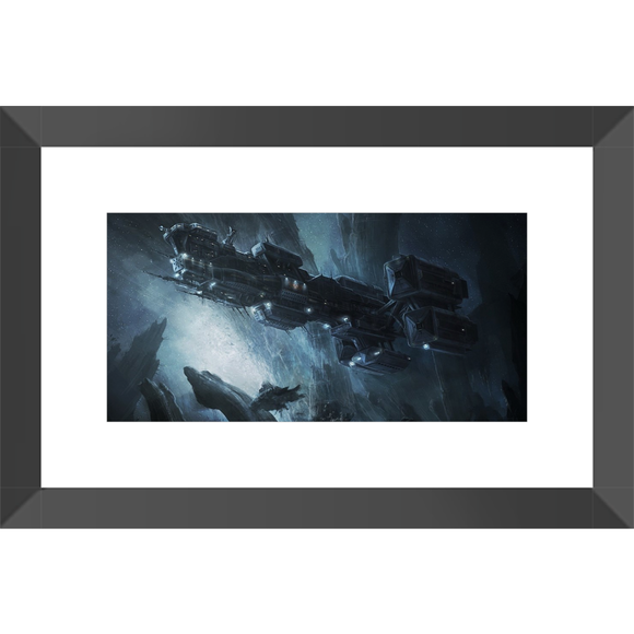 Alien: Covenant Ship Framed Fine Art Print [10x20 cm, Black Frame] :: Mental XS Online