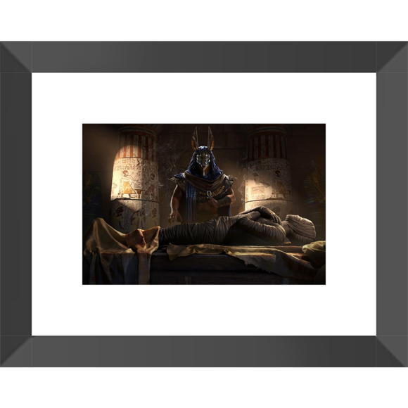 Assassin's Creed Anubis Mummification Ritual Framed Fine Art Print [20x25 cm, Black Frame] :: Mental XS Online
