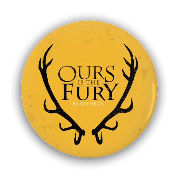 Game of Thrones BARATHEON Antlers Pin-Back Button :: Mental XS Online