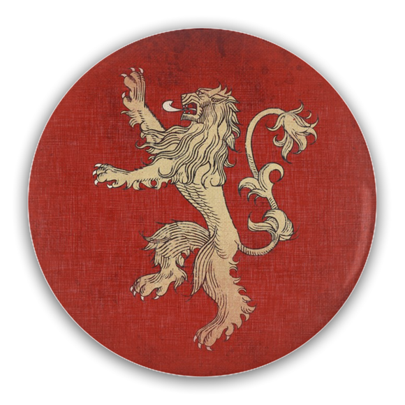 Game of Thrones LANNISTER Lion Pin-Back Buttons :: Mental XS Online