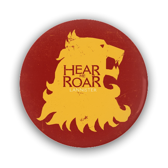 Game of Thrones LANNISTER Lion's Head Pin-Back Button :: Mental XS Online