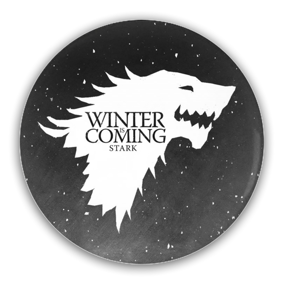 Game of Thrones STARK Direwolf Ghost Pin-Back Button :: Mental XS Online
