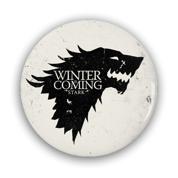 Game of Thrones STARK Direwolf Pin-Back Button :: Mental XS Online