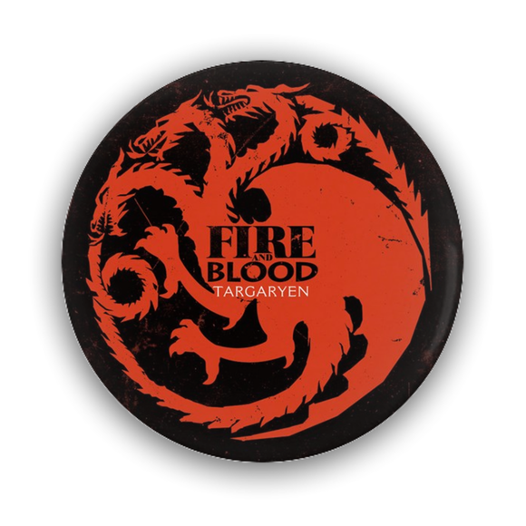 Game of Thrones TARGARYEN Dragons Pin-Back Button :: Mental XS Online