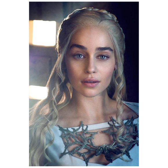 Game of Thrones Daenerys Targaryen White Mini Canvas Art Print