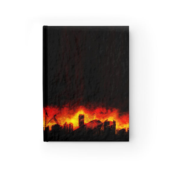 Burning Skies Black Hardcover Lined Journal 8