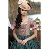 Vampire Diaries 1x13 Katherine Pierce 1864 Croquet Bodice LIMITED EDITION (US 4-14) from The Costume Portal at Mental XS Online
