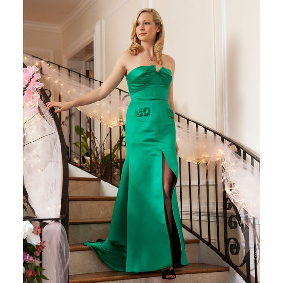 Vampire Diaries 1x19 Caroline Forbes Mystic Falls Pageant Green Dress (US 4-14) from The Costume Portal at Mental XS Online