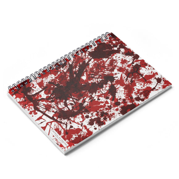 Blood Splatter Lined Spiral Notebook [8