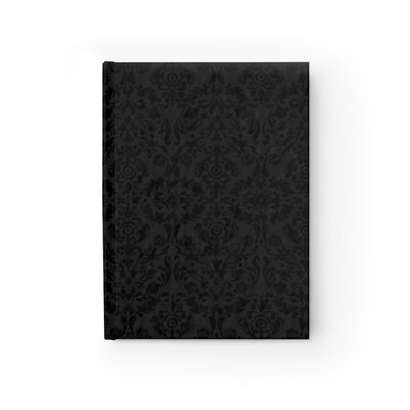 Black Damask Hardcover Lined Journal 8