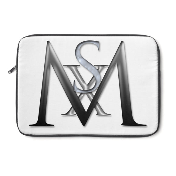 XS Media Logo Black and White Laptop Sleeve