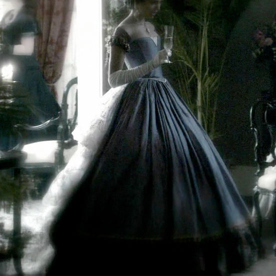 Vampire Diaries 2x04 Katherine Pierce 1864 Founder's Day Lavender Ball Gown (US 4-14) from The Costume Portal at Mental XS Online