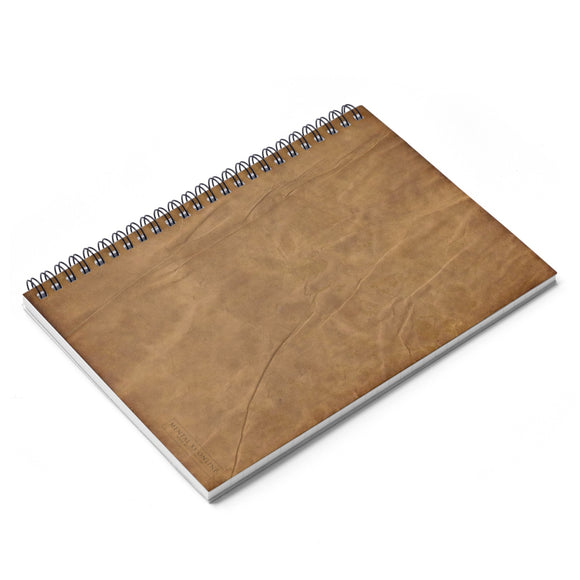 Antique Parchment Lined Spiral Notebook [8