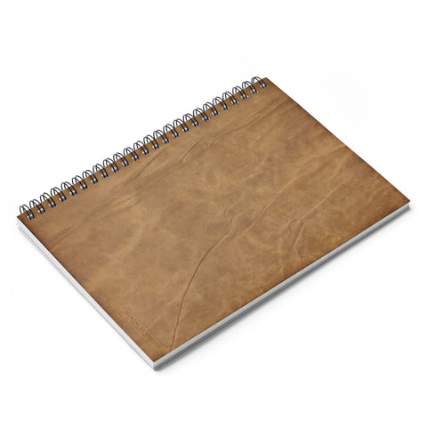 "Antique Parchment Lined Spiral Notebook [8"" x 6""] from Mental XS Online"