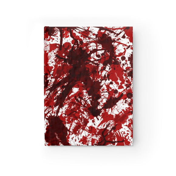 Blood Splatter Hardcover Lined Journal 8