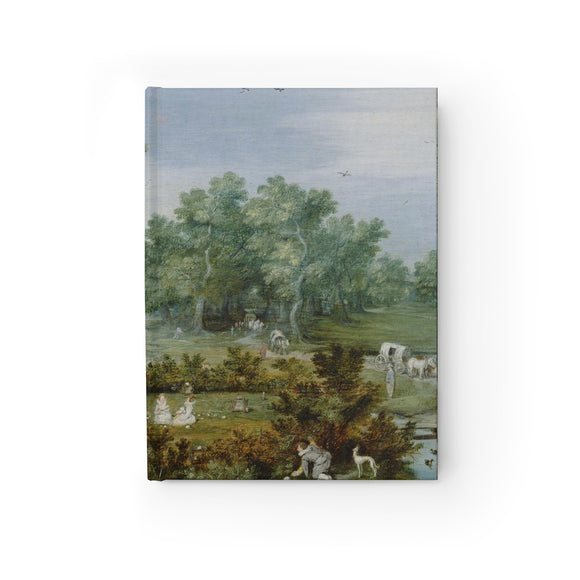 Merry Company in an Arbor by Adriaen van de Venne Hardcover Lined Journal 8