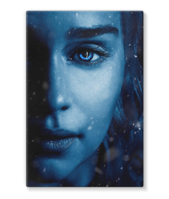 Game of Thrones 7 Daenerys Blue Stretched Canvas