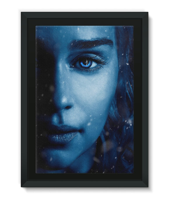Game of Thrones 7 Daenerys Blue Framed Canvas