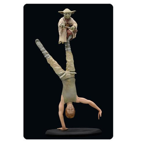 "Star Wars Episode V: The Empire Strikes Back - Yoda and Luke Dagobah Training Cold-Cast Porcelain Statue 6½"" - Attakus Limited Edition 3,000 Pieces from Mental XS Online"