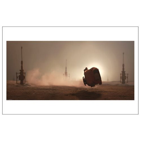 Star Wars TFA The Scavenger's Ride Print