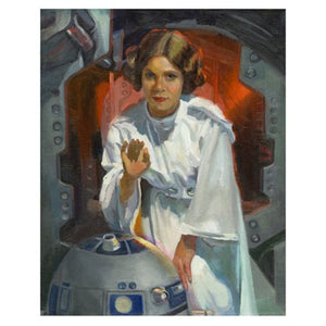 "Star Wars Episode IV: A New Hope ""My Only Hope"" Unframed Canvas Giclee Fine Art Print by C. M. Cooper [20"" x 16""] - Official Acme Archives Limited Edition 95 :: Mental XS Online"