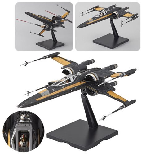 Star Wars Episode VIII: The Last Jedi Poe Boosted X-Wing 1:72 Scale Kit - Official Unisex :: Mental XS Online