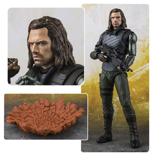 Marvel Comics Avengers: Infinity War Bucky and Effect Impact SH Figuarts - Official Unisex :: Mental XS Online