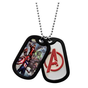 Marvel Comics Avengers Double Dog Tag Necklace - Official Unisex :: Mental XS Online