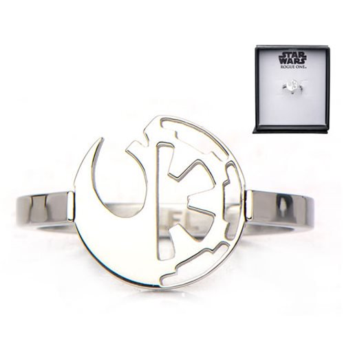 Star Wars - Rogue One: A Star Wars Story - Rebel Alliance and Galactic Empire Symbol Ring - Official Unisex :: Mental XS Online