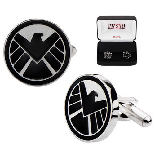 Marvel Comics Agents of SHIELD Logo Cufflinks - Official Body Vibe :: Mental XS Online