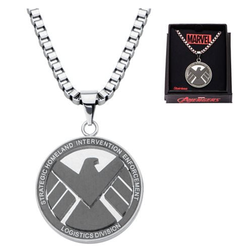 Marvel Comics Agents of SHIELD Logo Stainless Steel Pendant Necklace - Official Body Vibe :: Mental XS Online
