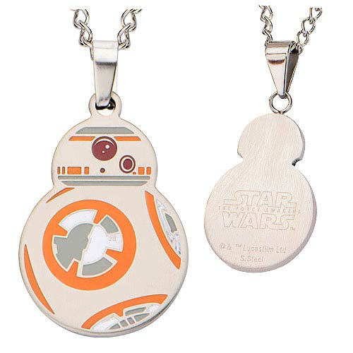 Star Wars Episode VII: The Force Awakens BB-8 Cutout Stainless Steel Pendant Necklace - Official Female :: Mental XS Online
