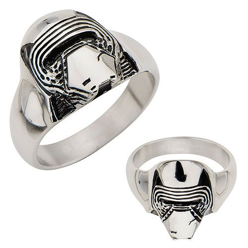 Star Wars Episode VII: The Force Awakens Kylo Ren 3D Cast Stainless Steel Ring - Official Male :: Mental XS Online