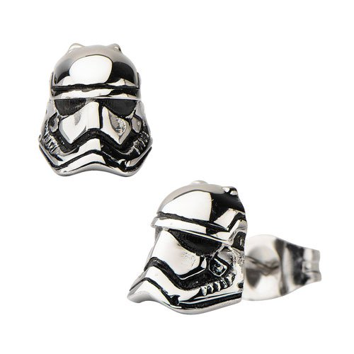 Star Wars Episode VII: The Force Awakens Stormtrooper 3D Cast Stainless Steel Earrings - Official Female :: Mental XS Online